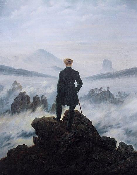 Caspar David Friedrich. : Der Wanderer über dem Nebelmeer